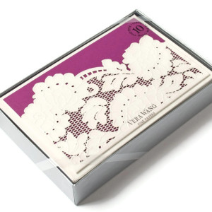 Laser-cut Tri-fold Notecards by Vera Wang