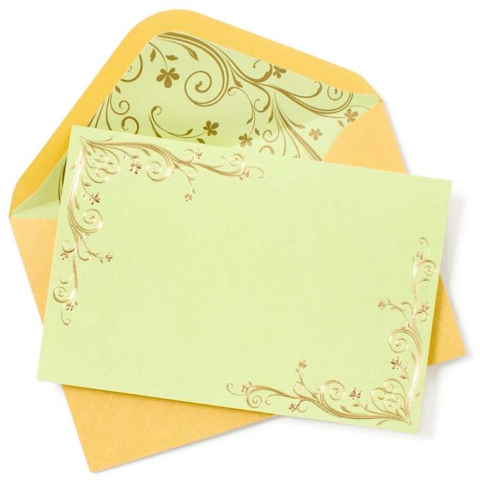 Swirl Border Correspondence Cards