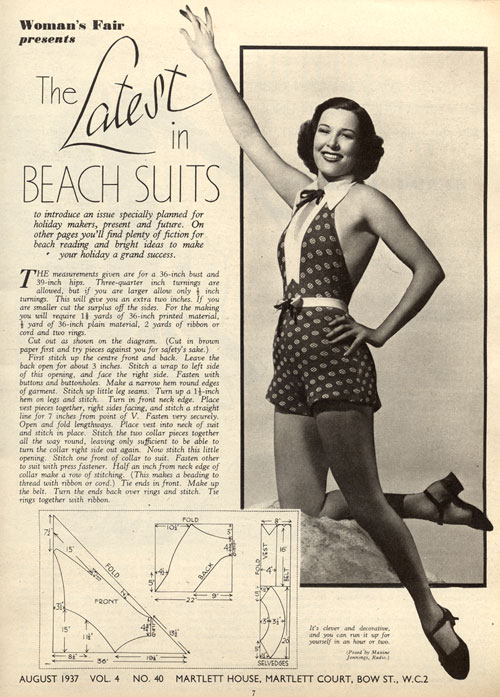 1930s Beach Playsuit Romper