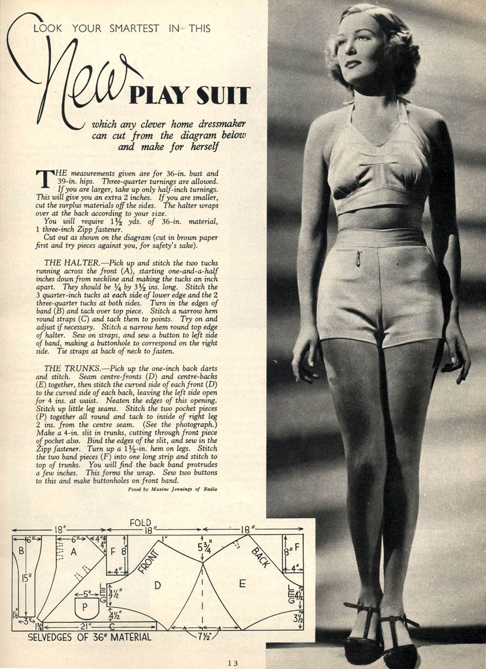 1930s Beach Playsuit