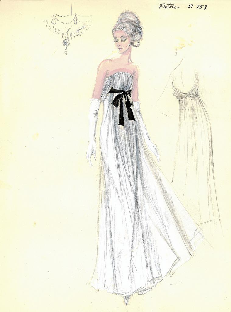 Jean Patou White Grecian Gown