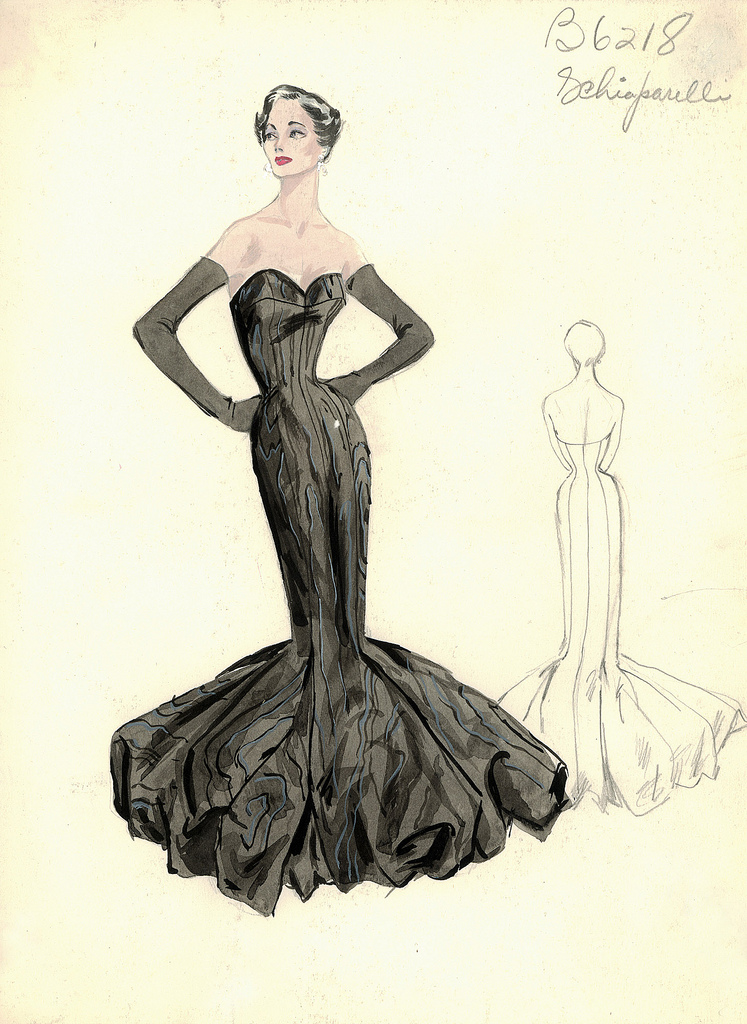 Schiaparelli Black Mermaid Dress