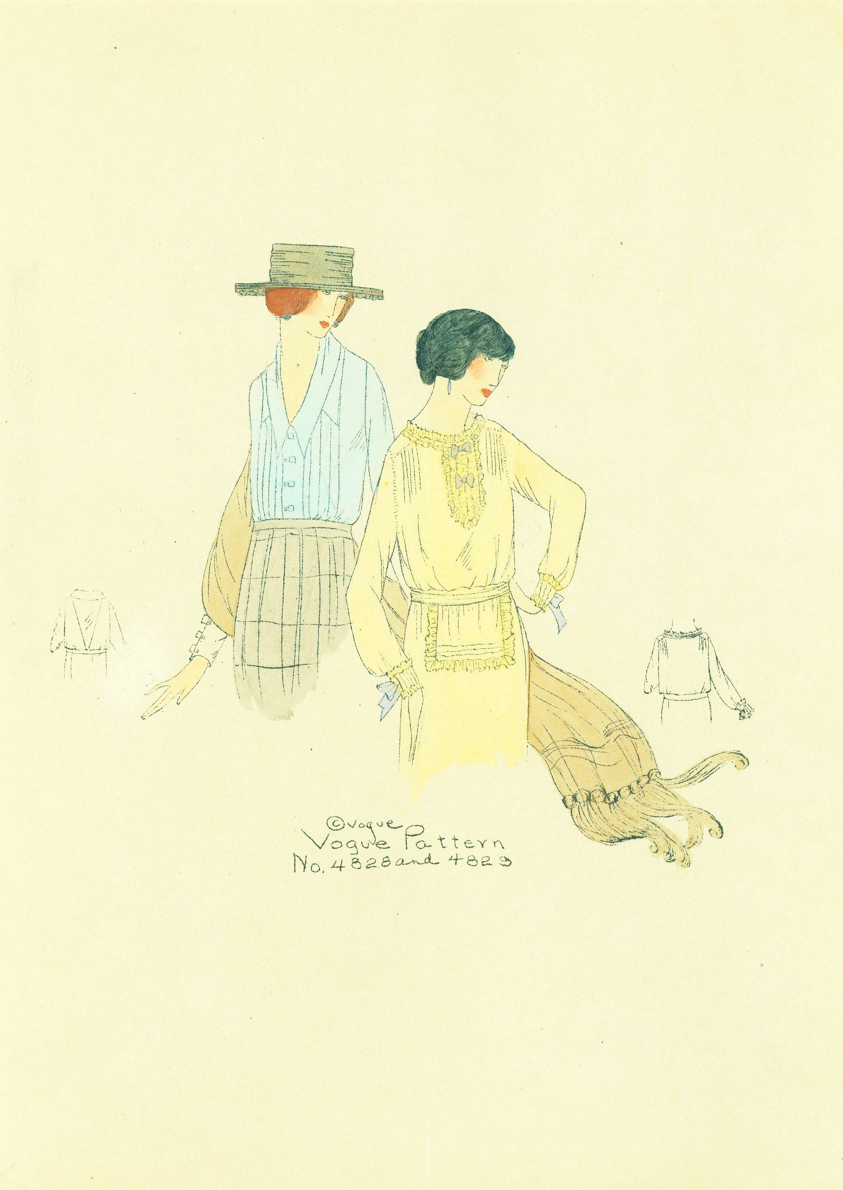 1910s Vogue Pattern 4828 and 4823