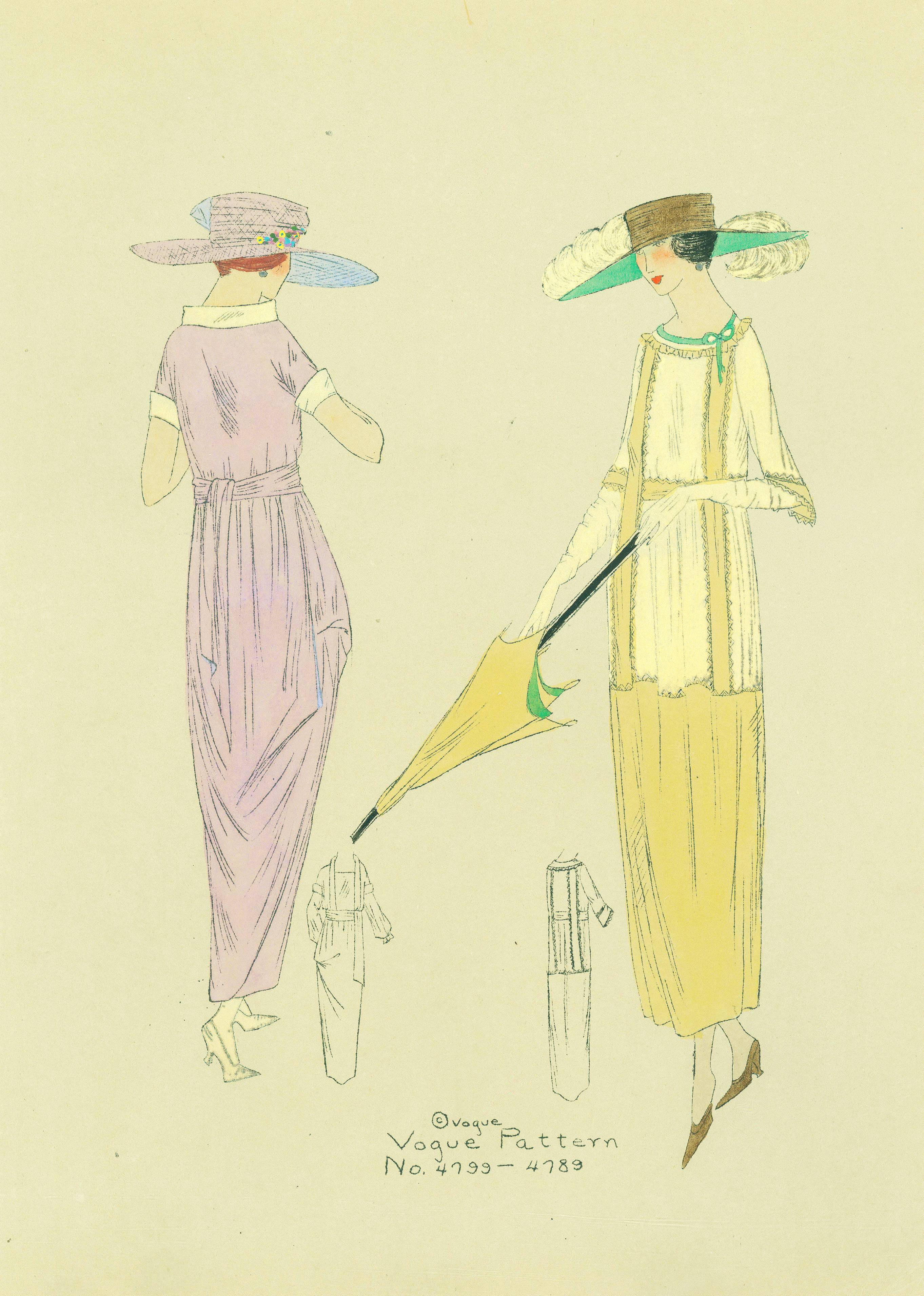 1910s Vogue Pattern 4799 and 4789