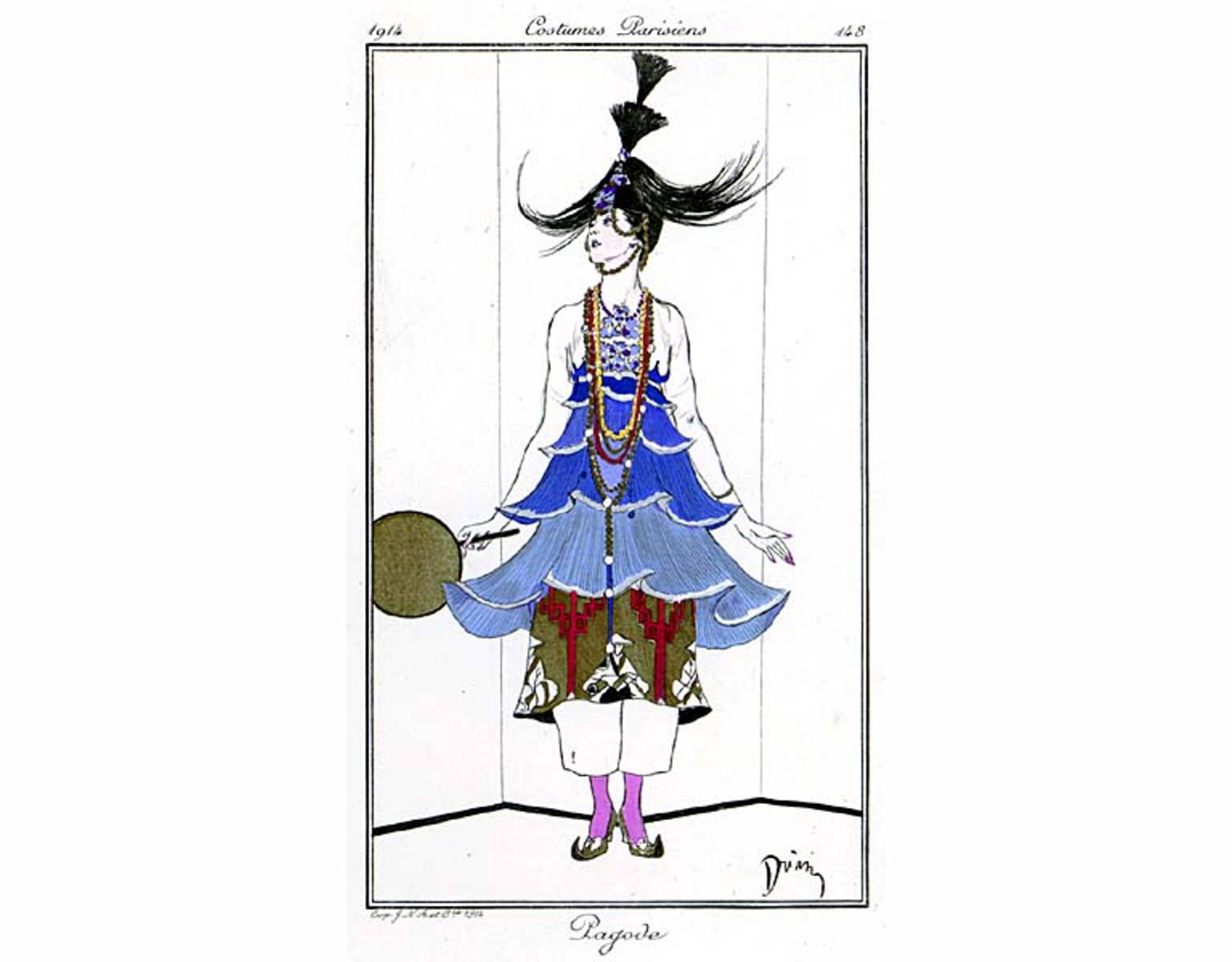 "1914 Costume Parisienne ""Pagode"" George Barbier"