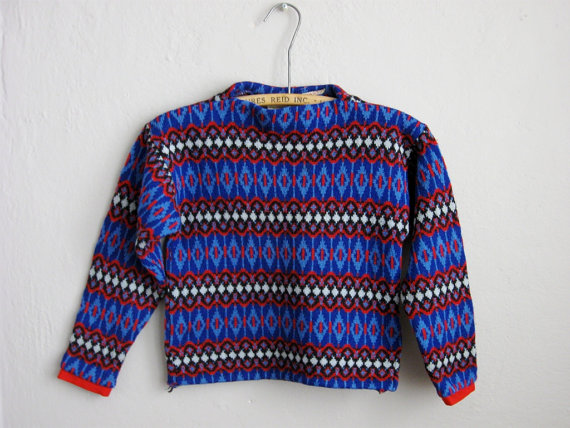 Vintage Children's Ski Sweater by Soubrette Vintage