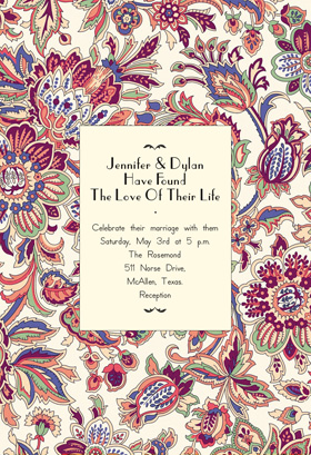 Floral Wedding Tapestry Invitation